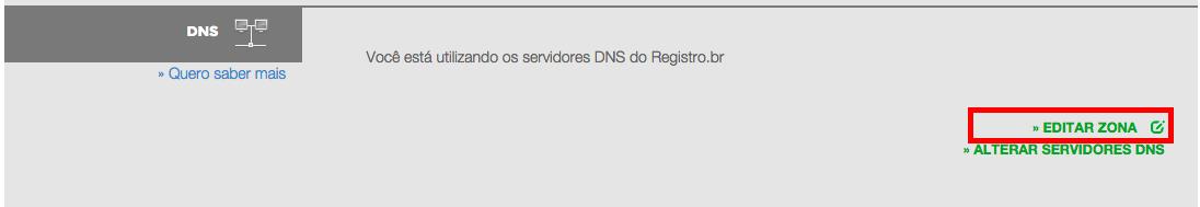 Imagem indicando a opção de DNS
